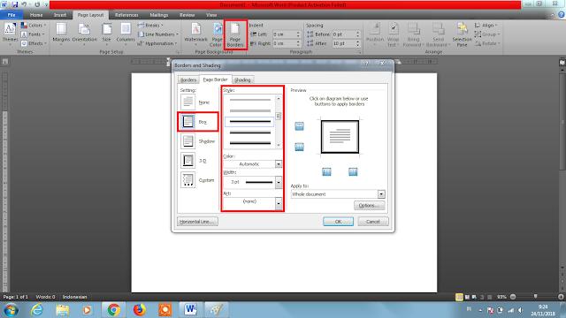 """alt=""""Cara Membuat Page Border di Word 2010"""""""