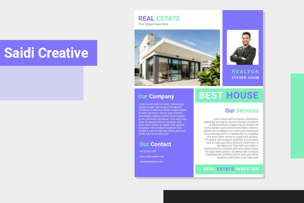 Real Estate Investor Flyer Template Design Free Download on MS. Word File