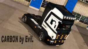Carbon skin for Scania RJL by EviL