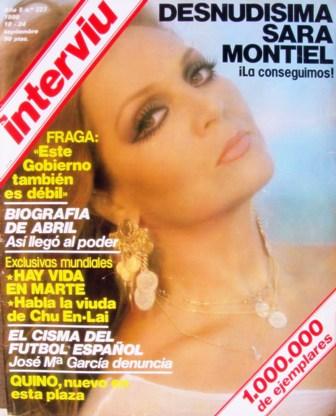 Saras Cover Interviu 18 24 De Septiembre De 1980 España