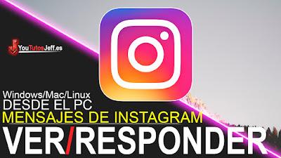 Instagram desde PC, esponder los mensajes de Instagram desde PC