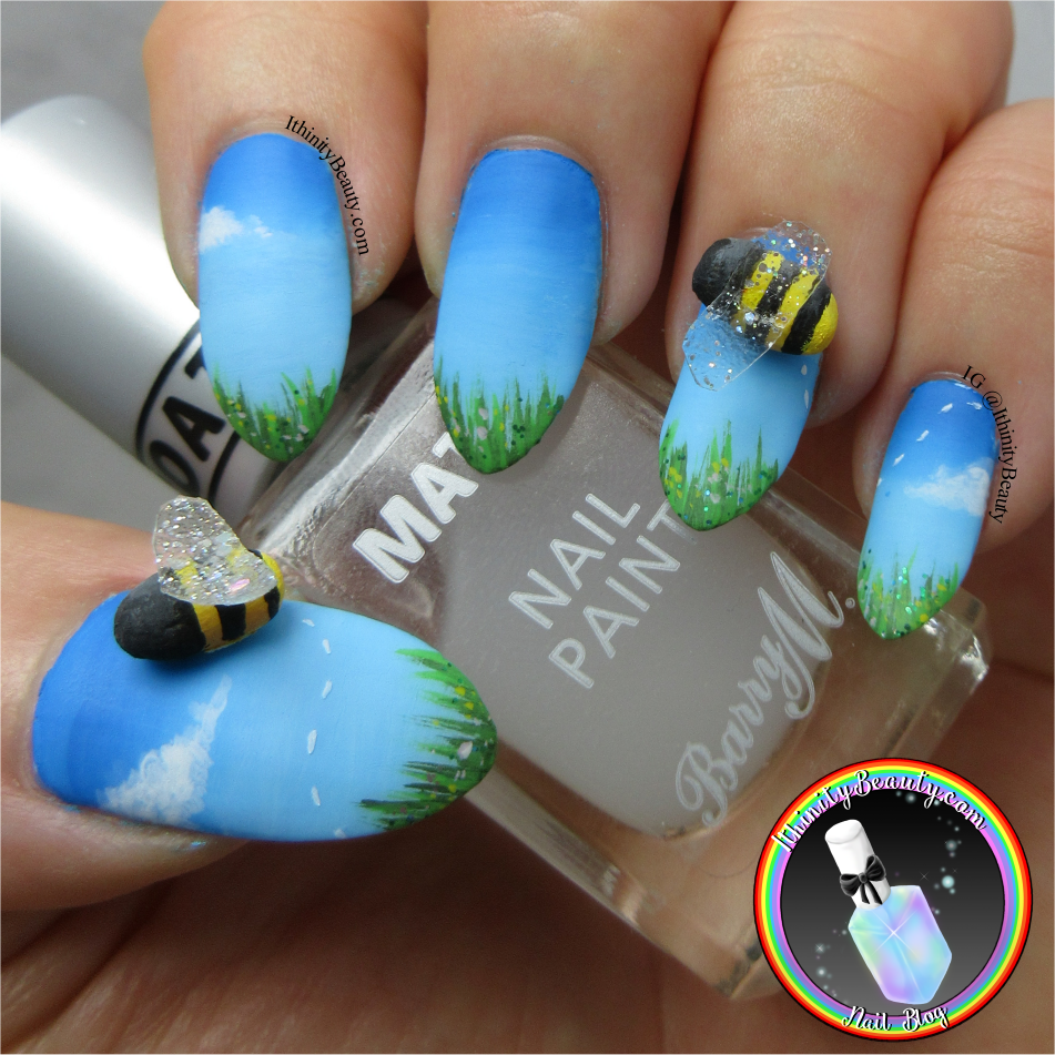 3d Bumble Bee Nail Art Ithinitybeauty Nail Art Blog