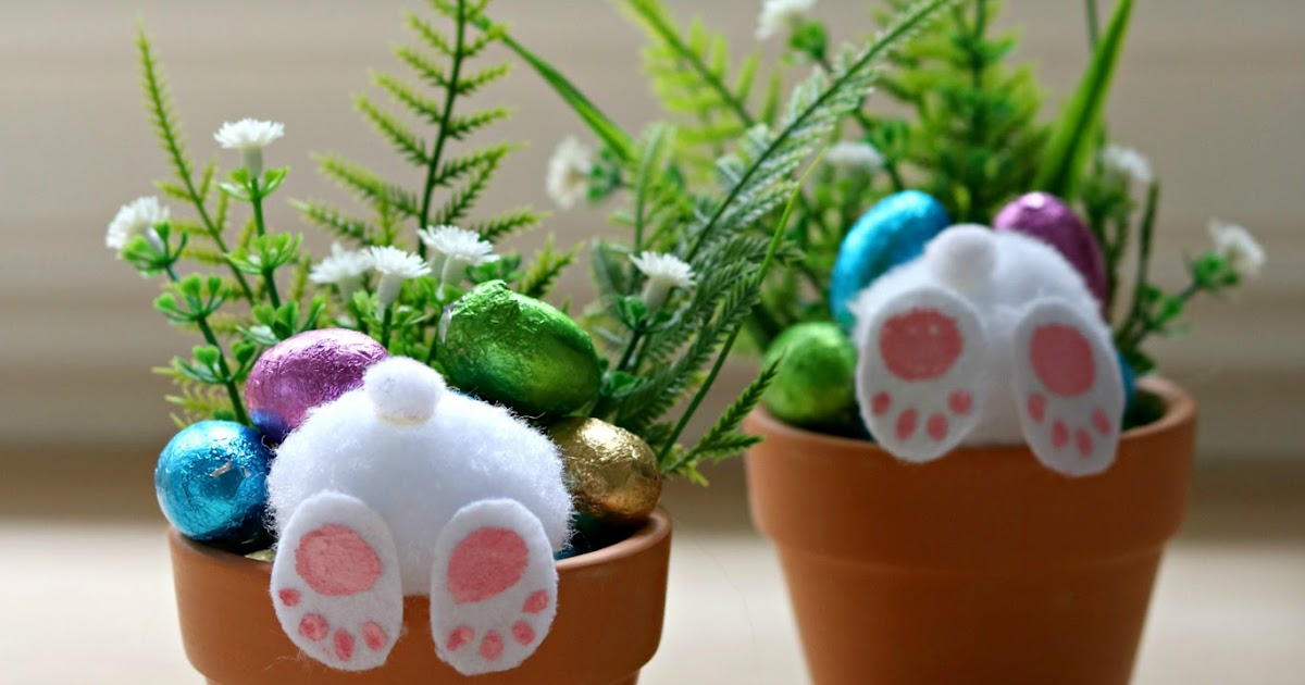 Southern In Law How To Make Your Own Curious Easter Bunny Pots