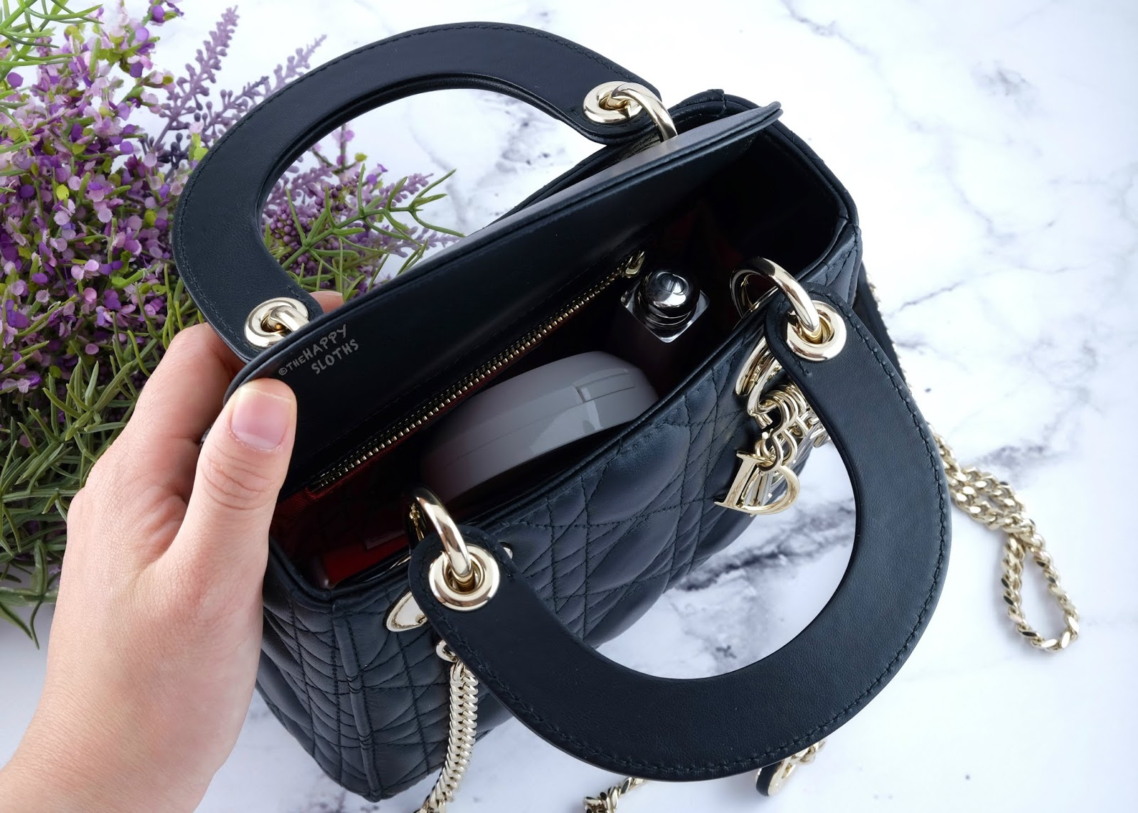 Dior | Mini Lady Dior Lambskin Bag in Black with Light Gold Hardware: Review