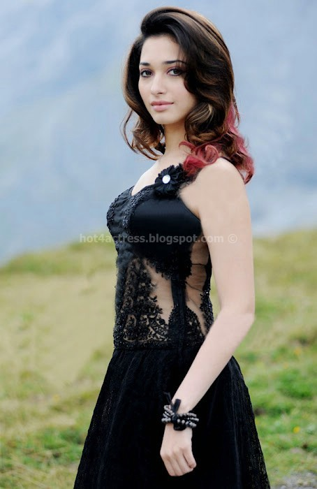 Tamanna sexy in black dress