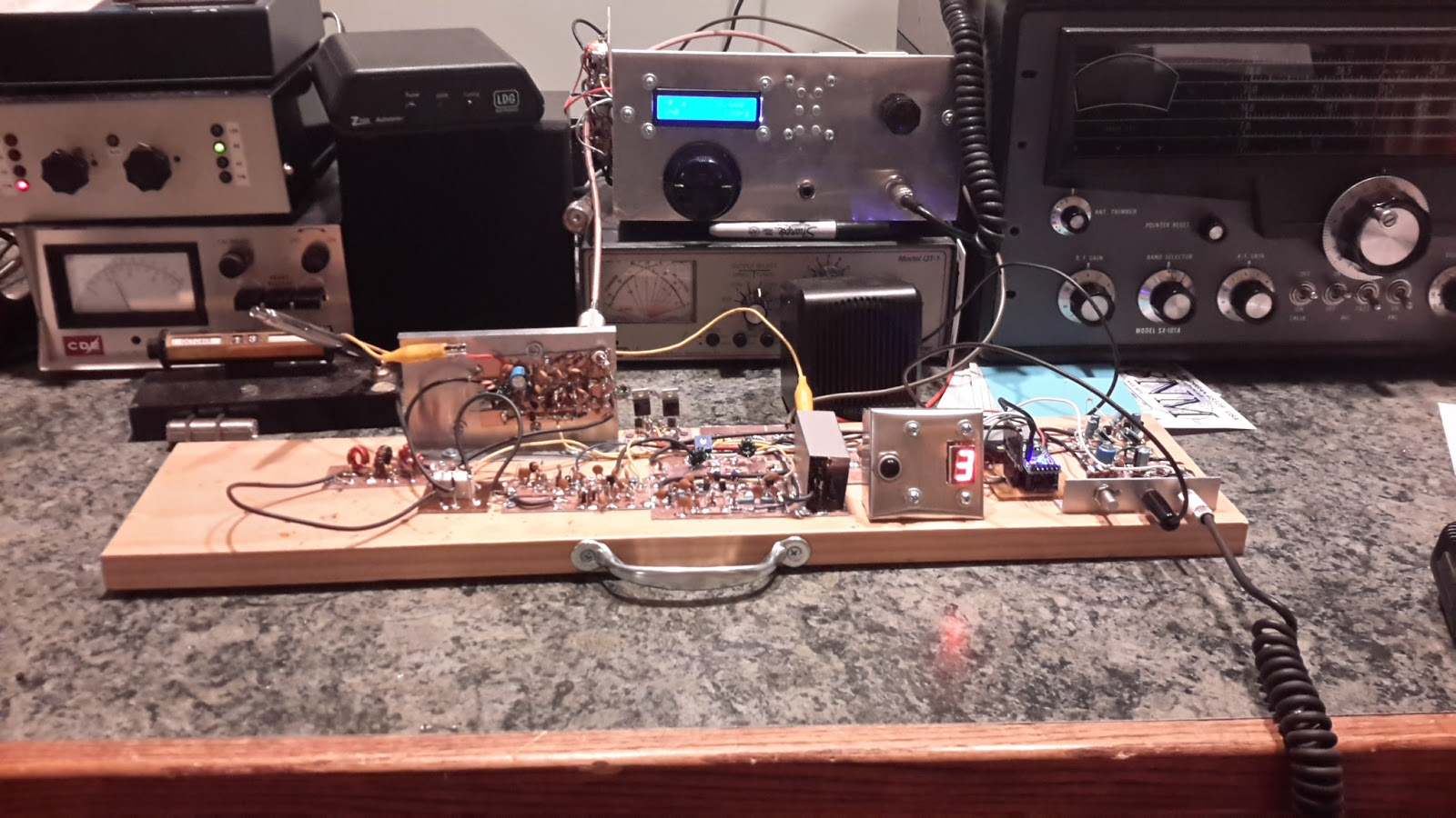 Steves Eclectic Radio Blog October 2016 Amplifier Circuit Using Lm380 With Mic 400x400 Mini After A Few Months Of Casually Melting Solder The Planker Made Its Maiden Voyage Yesterday Afternoon When I Enjoyed Brief Chat Lauren Wd5hio In