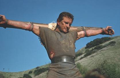 Kirk Douglas as Spartacus 1960 movieloverreviews.filminspector.com