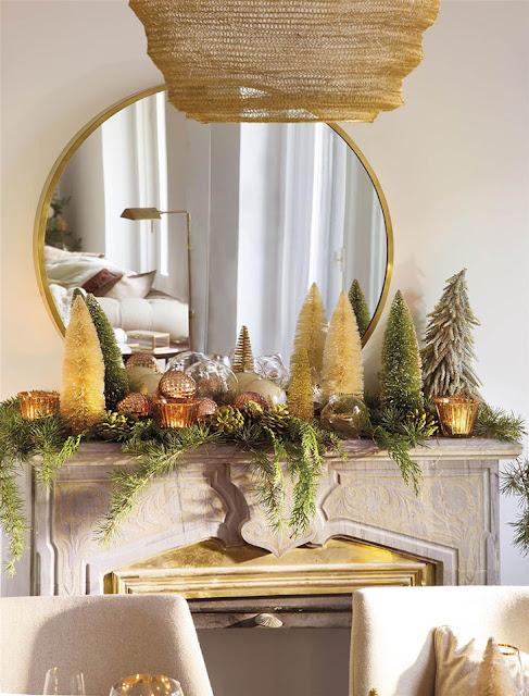 Sala decorada com maravilhoso tons dourados decora o e for Ideas para amueblar un departamento