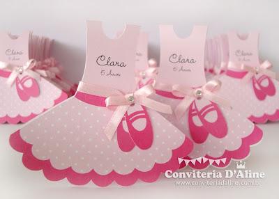 convites infantis tema bailarina