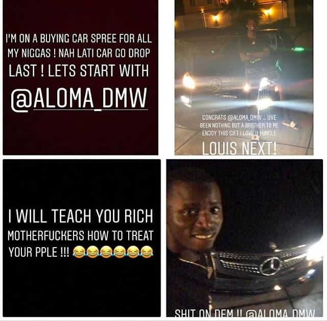 Davido Goes On 'Car Shopping Spree' For His Crew, Kicks Off With A Benz .