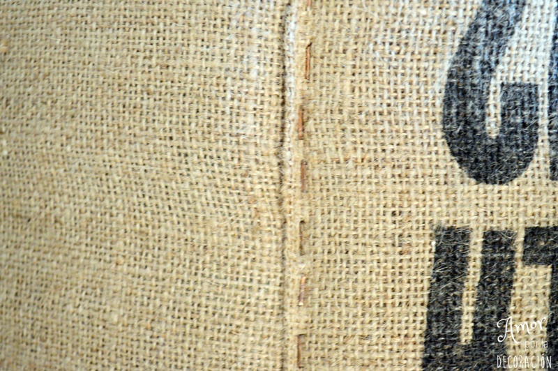 Tutorial tapizar taburete con sacos de caf amor por - Grapas para tapizar ...