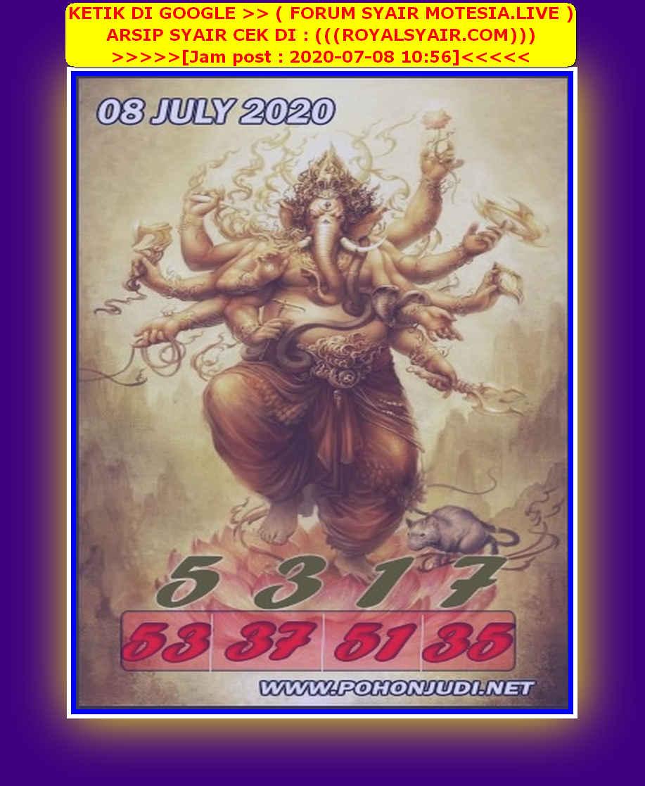 Kode syair Singapore Rabu 8 Juli 2020 100