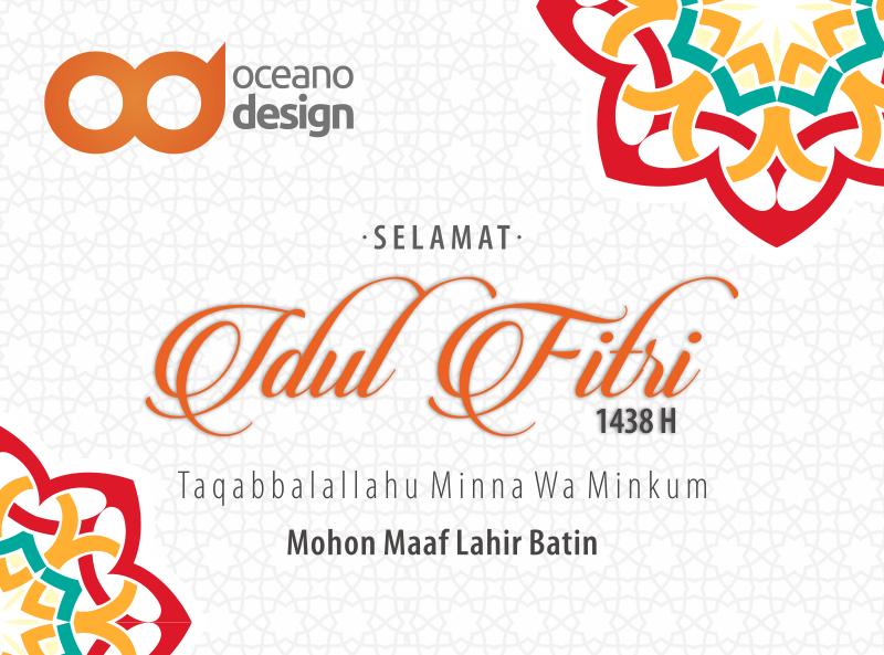 Selamat Idul Fitri 1438h Jasa Desain Grafis Jogja