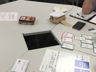 a game being prototyped
