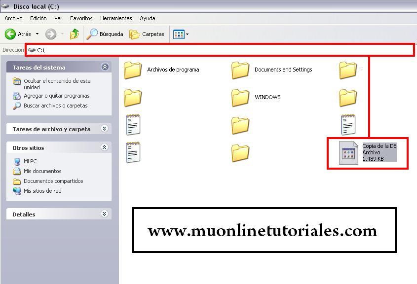 Archivo generado desde el SQL