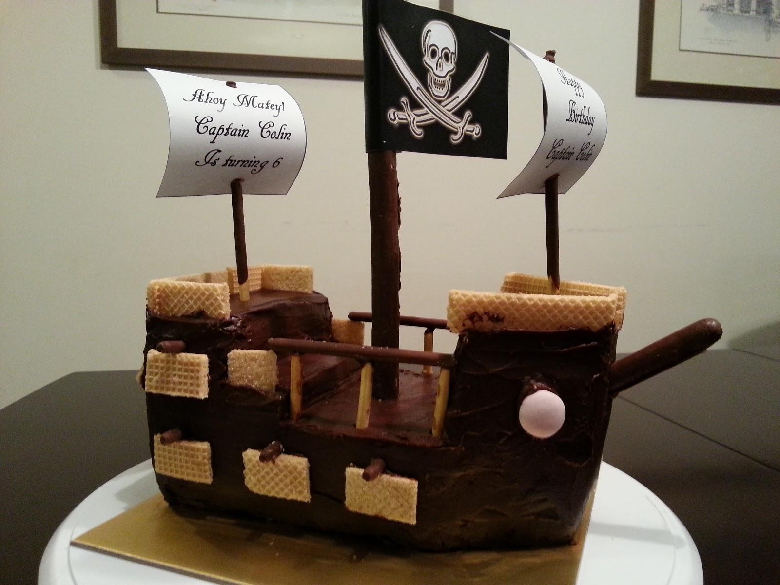 Hanis Kitchen Pirate Ship Birthday Cake