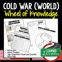 Cold War,  Progressive Era, American History Activity, American History Interactive Notebook, American History Wheel of Knowledge