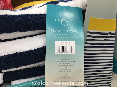 Charisma Resort Towel - Now you can get that resort feel even after the vacation is over