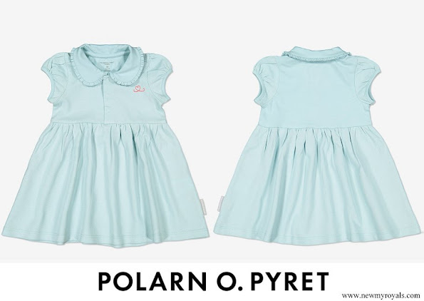 Princess Adrienne wore Polarn O. Pyret dress