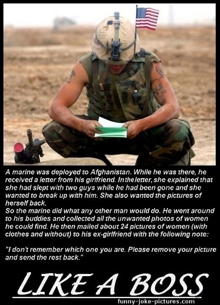 Army Marine Breakup Joke Photo