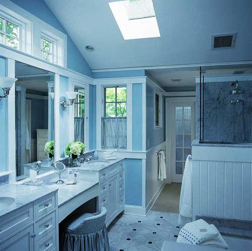50 Gambar Kamar Mandi Sederhana Warna Cat Biru