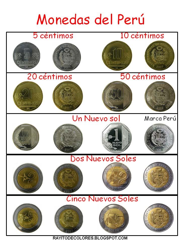 Rayito de Colores Monedas y Billetes del Perú