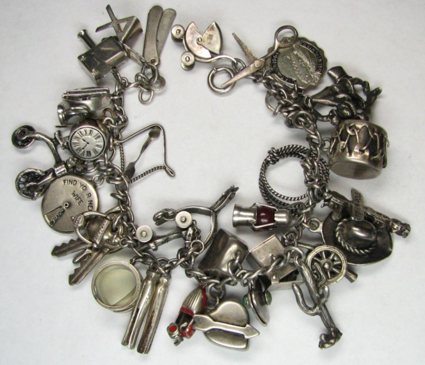 Antique Gold Charm Bracelet: THRIFT SCORE...and More...: Vintage Charm Bracelet