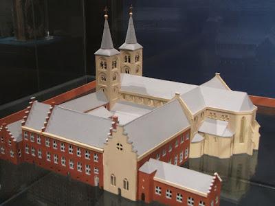 Maquette van de Paulusabdij in Utrecht door G.M.J. Engelbregt en J.B.A. Terlingen, 2010