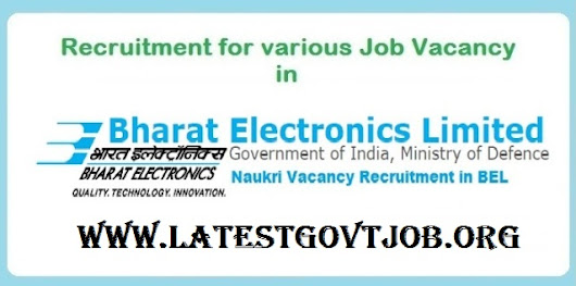 Latest Government Jobs: BEL Recruitment (2018) - 147 Vacancies for Contract Engineer @ bel-india.in