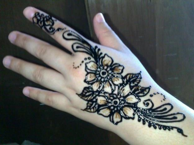 Contoh Henna Simple Kaki Makedes Com