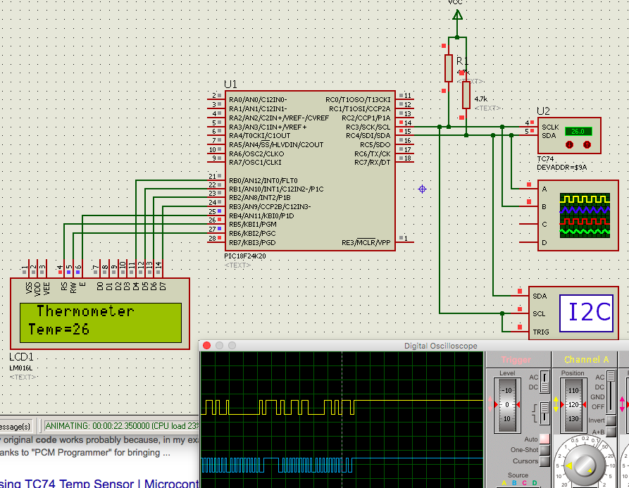 Learning PIC Programing with XC8 Compiler: Reading TC74 via I2C