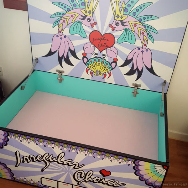 irregular choice mermaid storage chest open inside