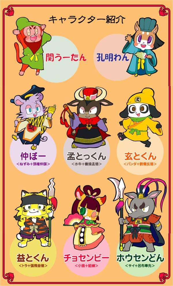 ตัวละครสาราสัตว์สามก๊ก Animal Sangokushi