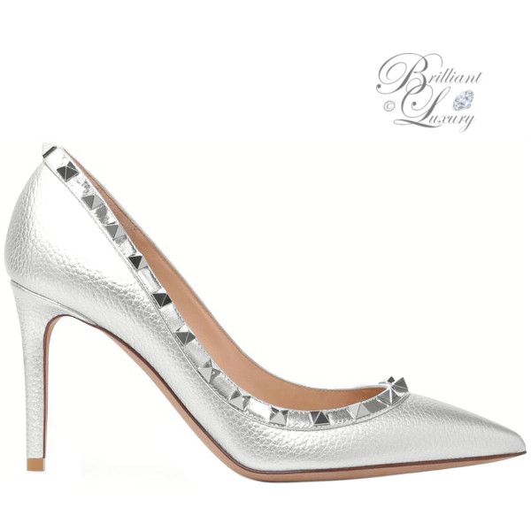 Brilliant Luxury ♦ Valentino metallic Rockstud pumps