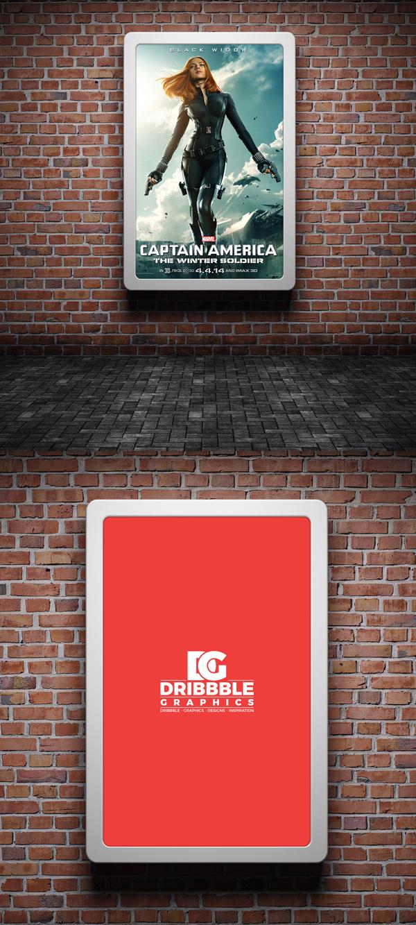 Mockup terbaru 2017 gratis - Free Street Advertising Billboard Mock-up Psd