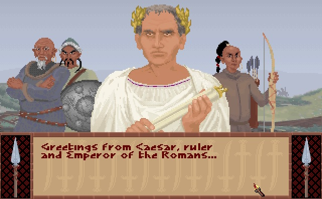 Screenshot of Julius Caesar in Sid Meier's Civilization