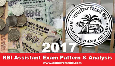 RBI Assistant Exam Pattern & Analysis 2017