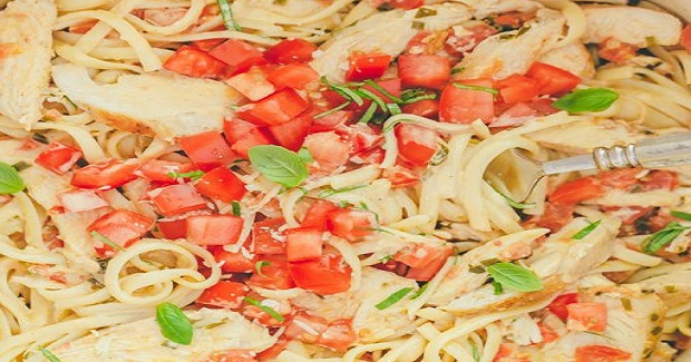 Chicken Pasta In Creamy Tomato Sauce Recipe