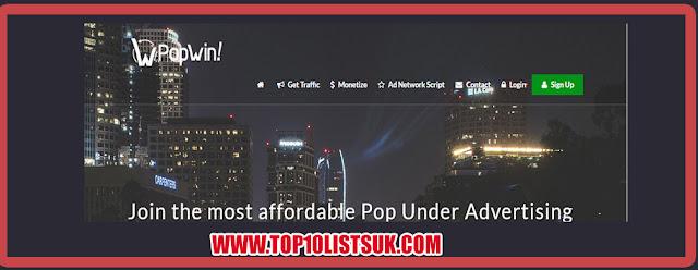 Popwin Advertising Network Best Pop Under Adnetwork
