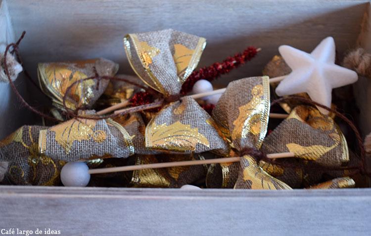 Adornos handmade para el árbol de Navidad