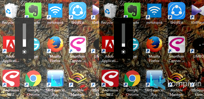 cara mengubah kecerahan layar laptop pc