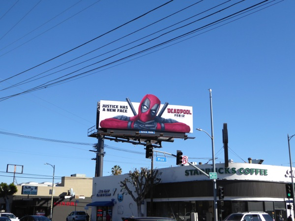 Deadpool movie extension billboard