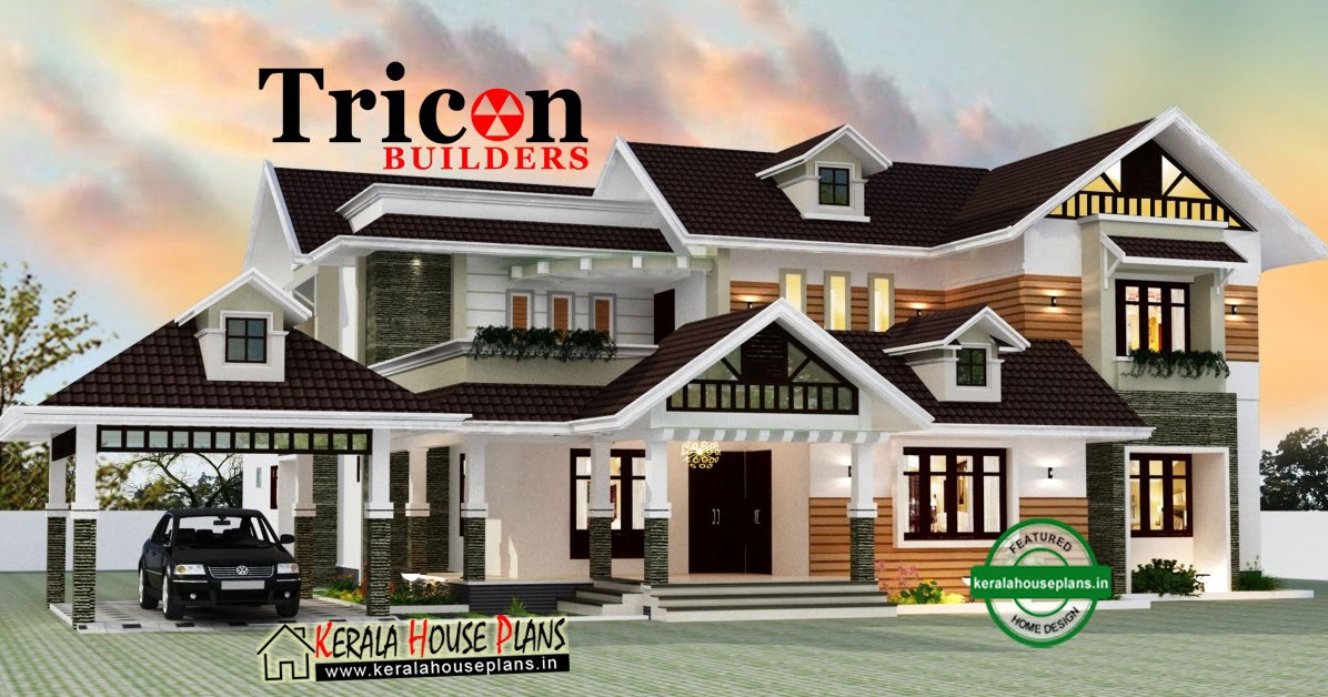 5 Bedroom Ultra Luxury Modern Villa | Kerala House Plans ...