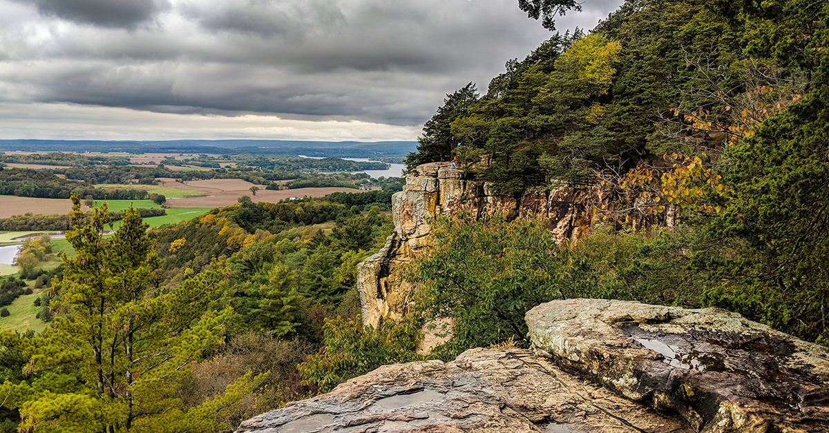 High cliff overlooking Wisconsin Lake Valley