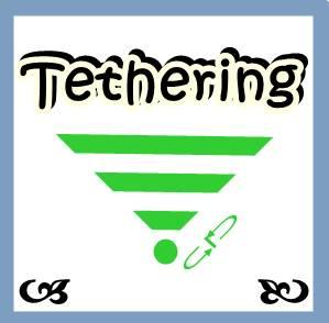 Ilustrasi tulisan tethering