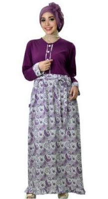 Model Gamis Batik Pesta terbaru