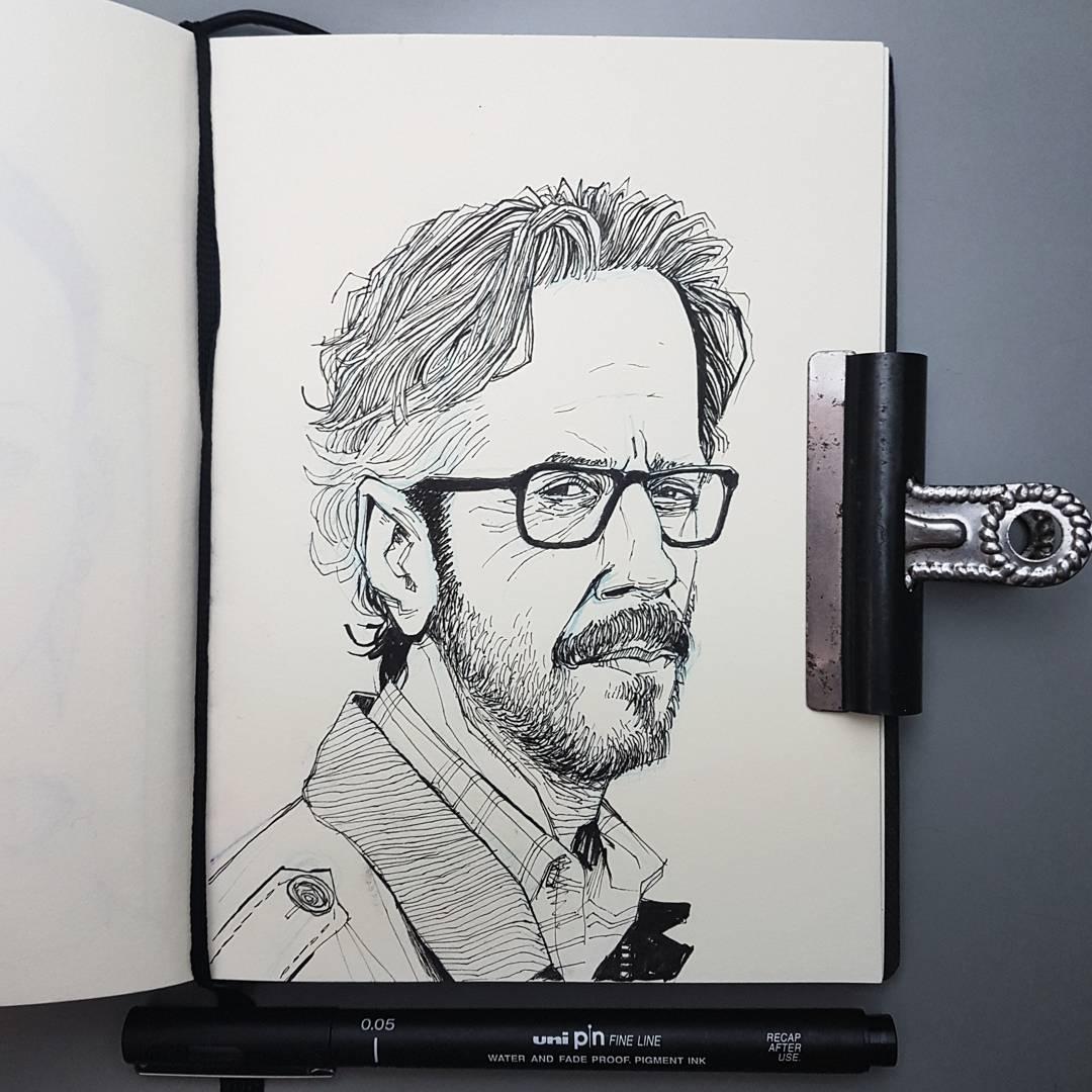 Marc Maron sketchbook