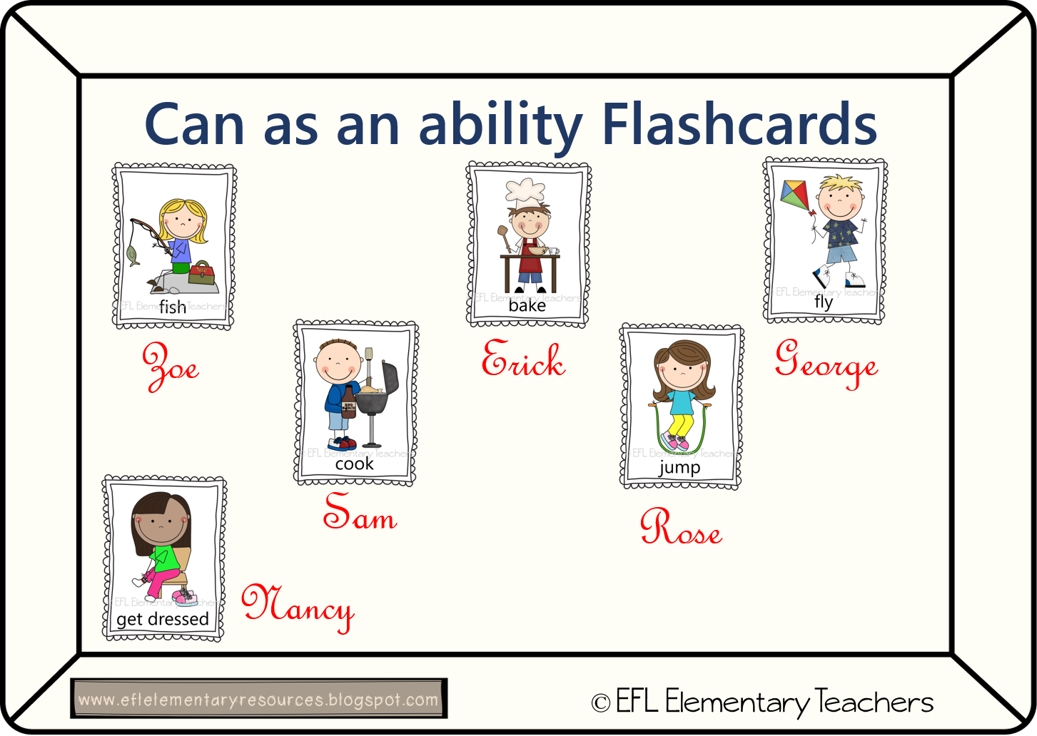 Efl Elementary Teachers Can As An Ability Flashcards And