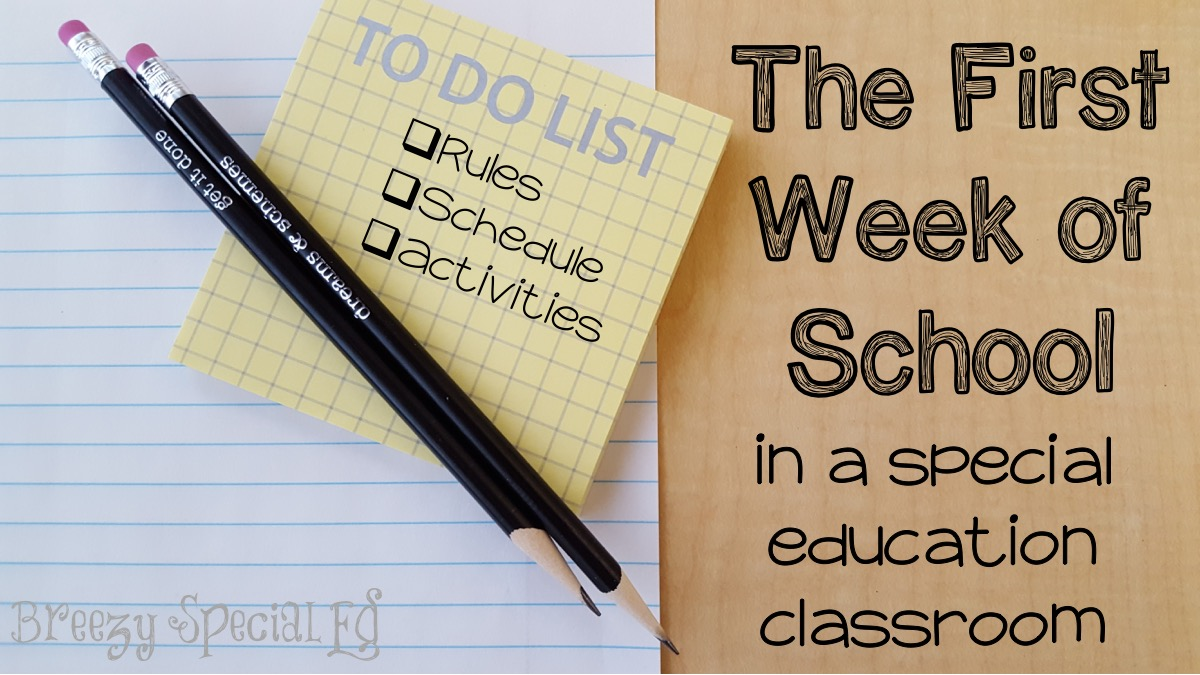 Its Not Easy Teaching Special Ed >> First Week Activities In A Special Education Class With Freebies