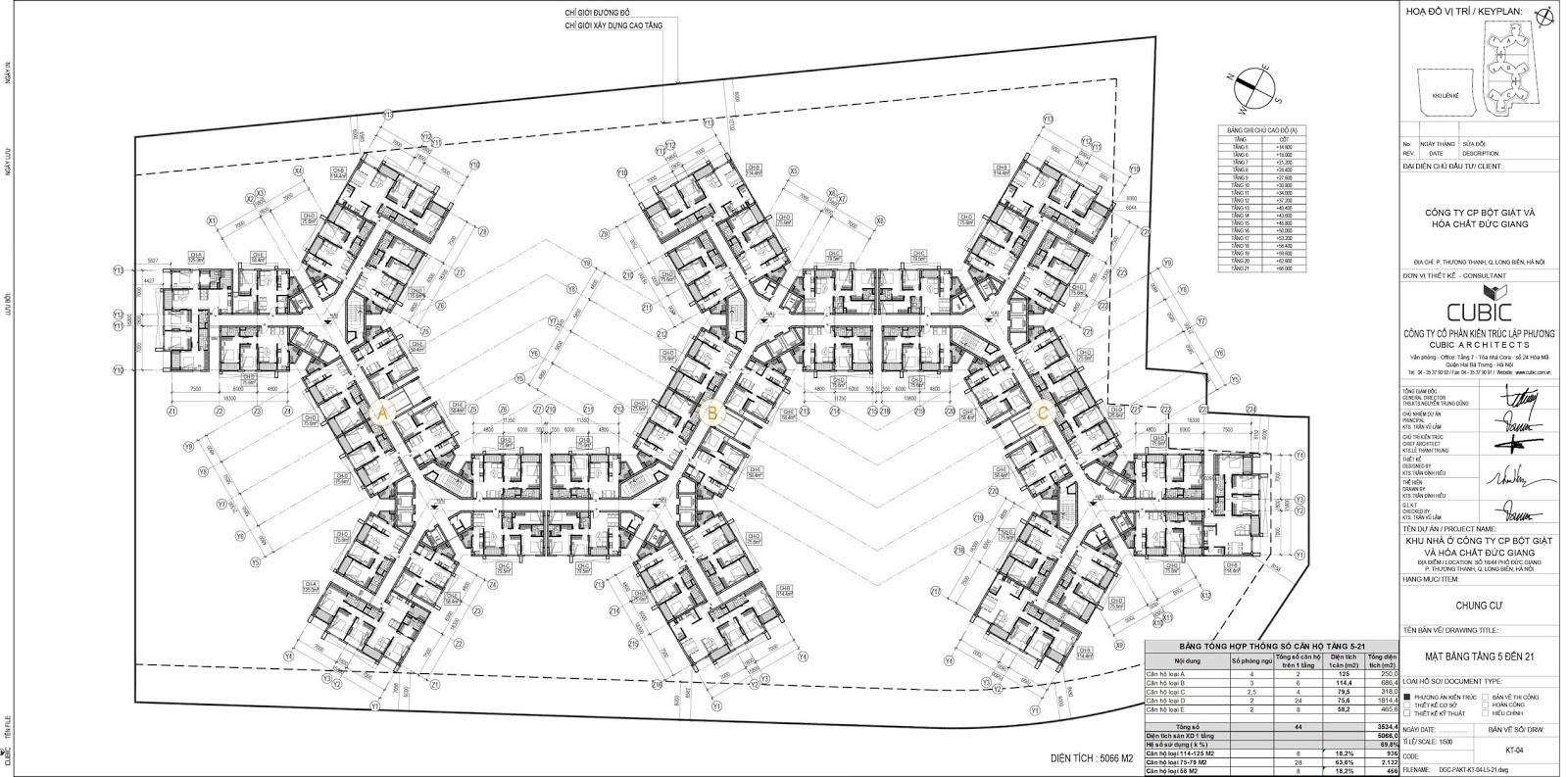 Thiết kế căn hộ nhà ở Hóa Chất Đức Giang.